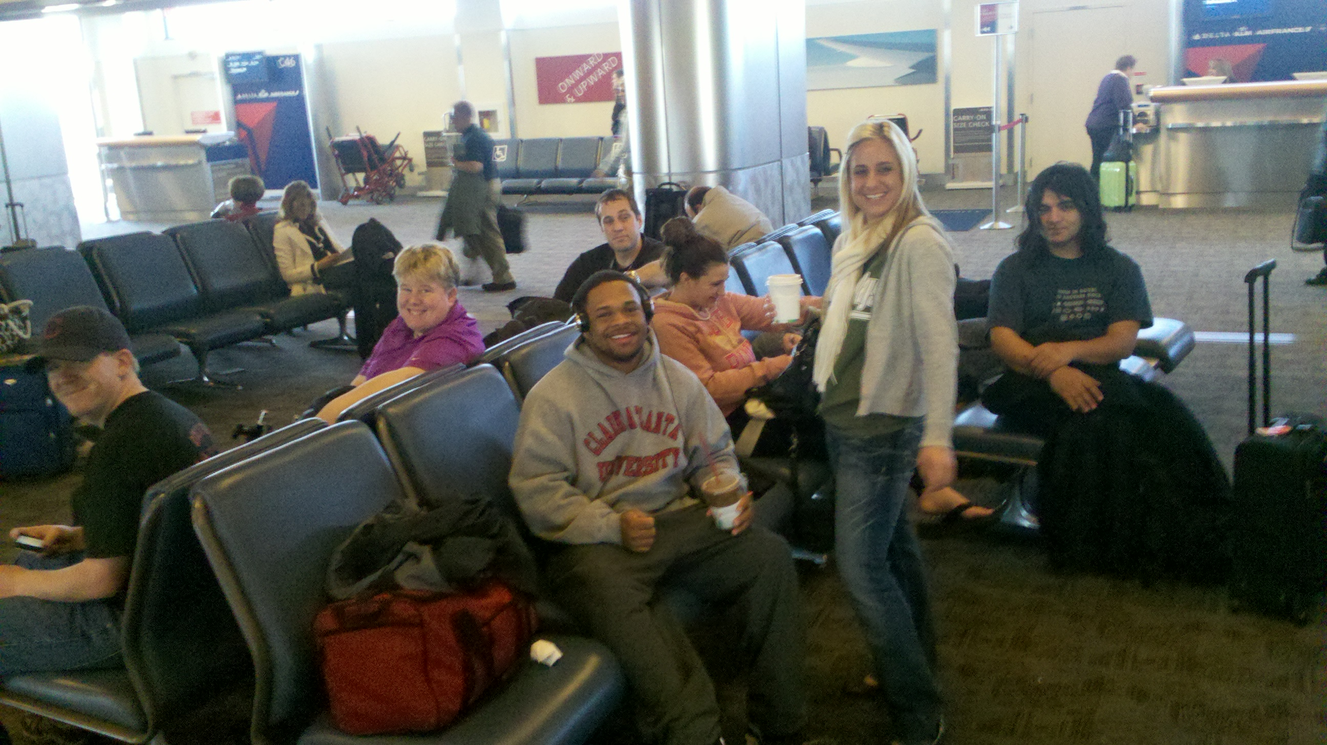Team waits for airplane to Alabama