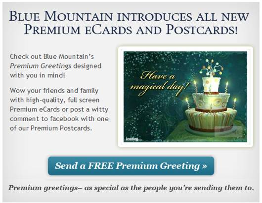 Free Blue Mountain eCards