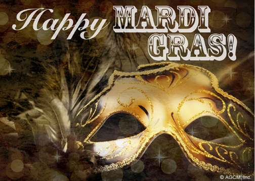 eCard of the Week   Happy Mardi Gras postcard!