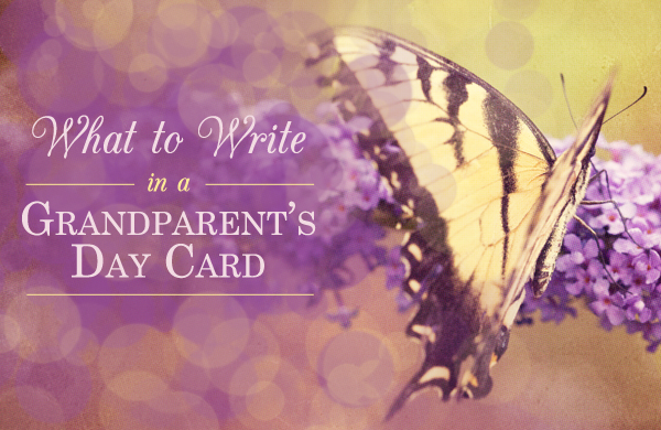 Learn what to write in a Grandparents Day card from BlueMountain.com