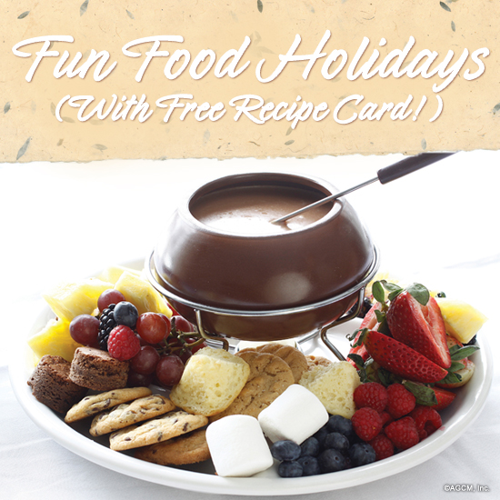 Fun Food Holidays (with FREE recipe card!)