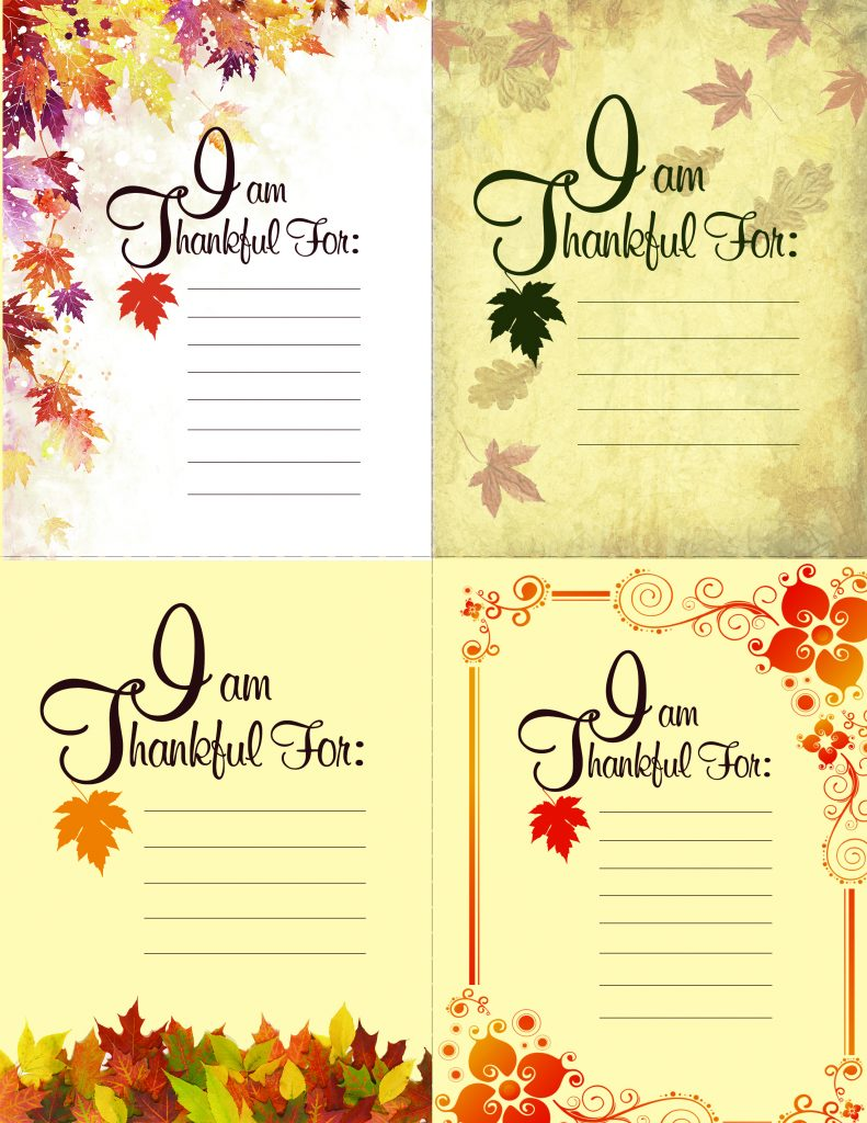 Thanksgiving Printable!   (place setting cards)