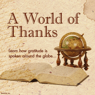 "Thumb image with infographic title ""A World of Thanks"""