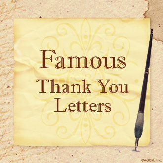 "Thumb image with Infographic Title ""Famous Thank You Letters"""