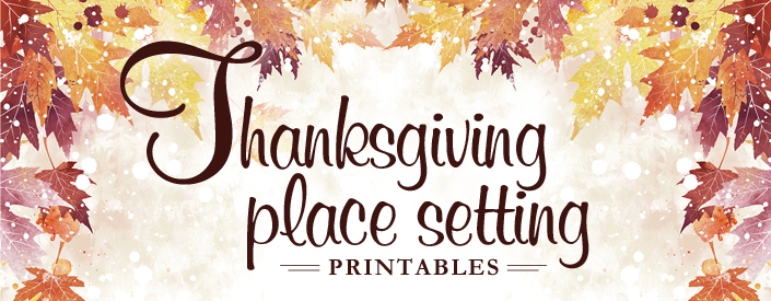 Thumb Image with Thanksgiving Place Setting Printables Title
