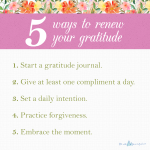 Renewing Gratitude