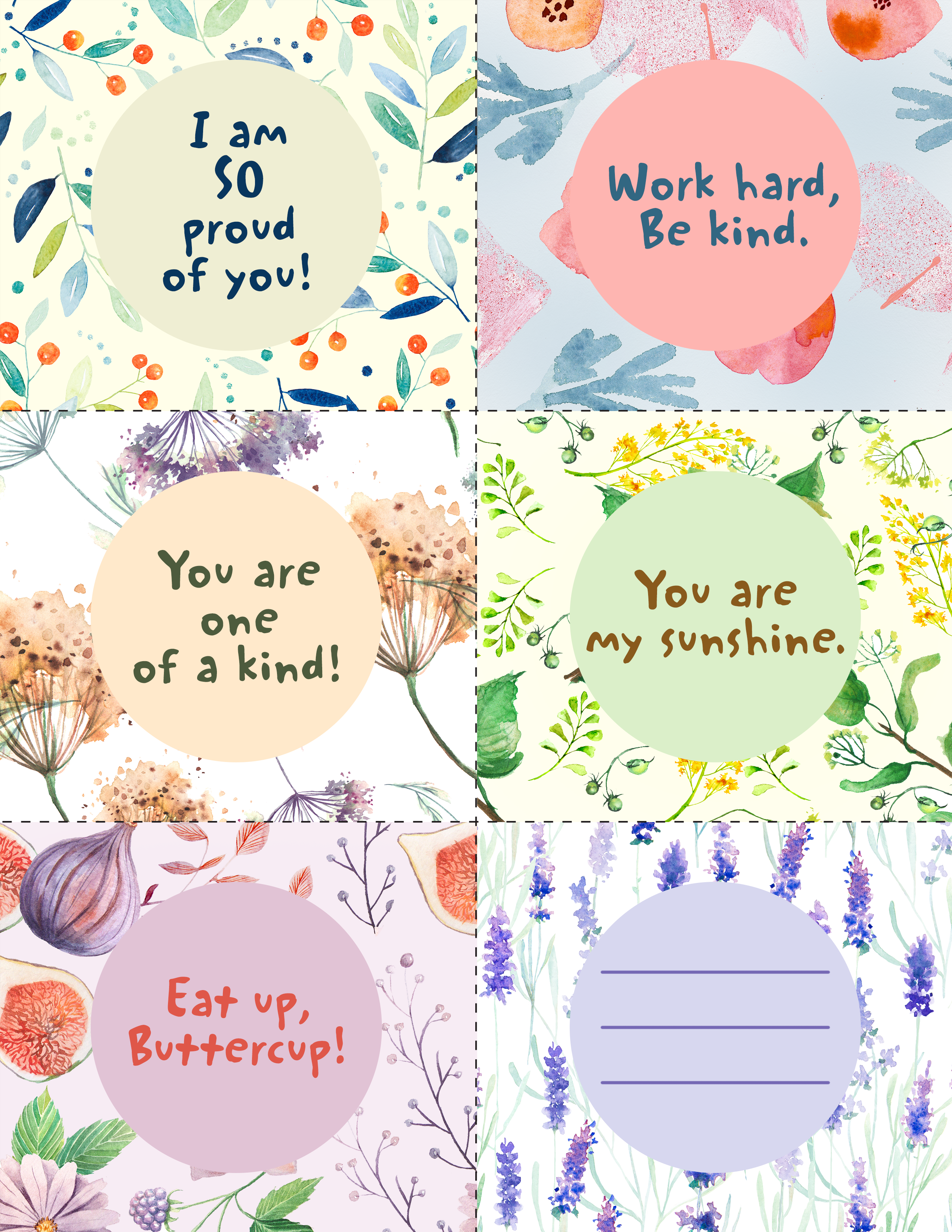picture relating to Printable Lunch Notes named Printable Lunchbox Notes - Blue Mountain Blog site