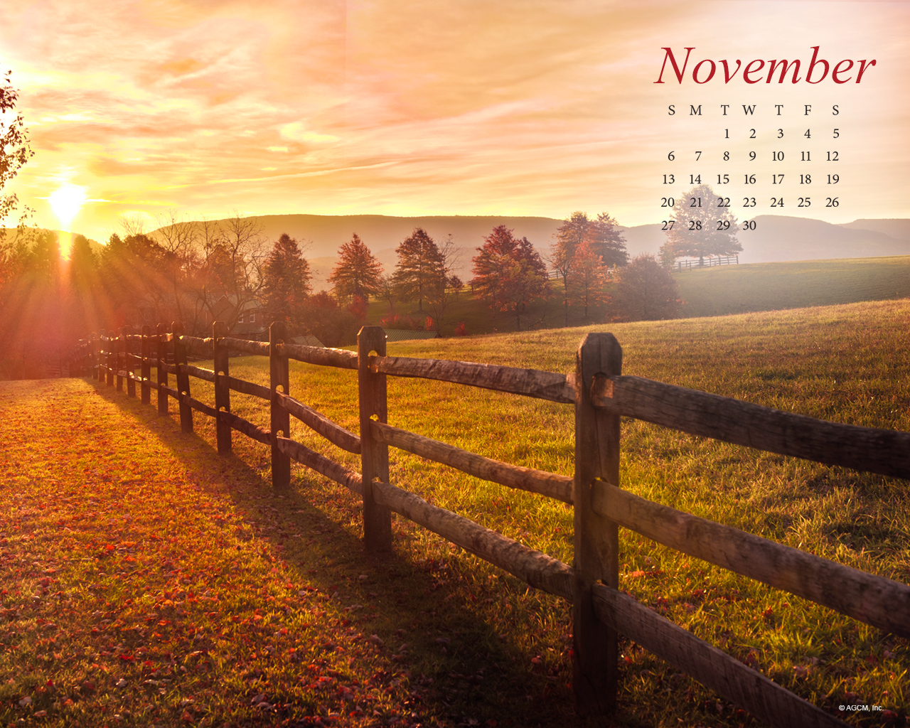 November 2016 Desktop Background