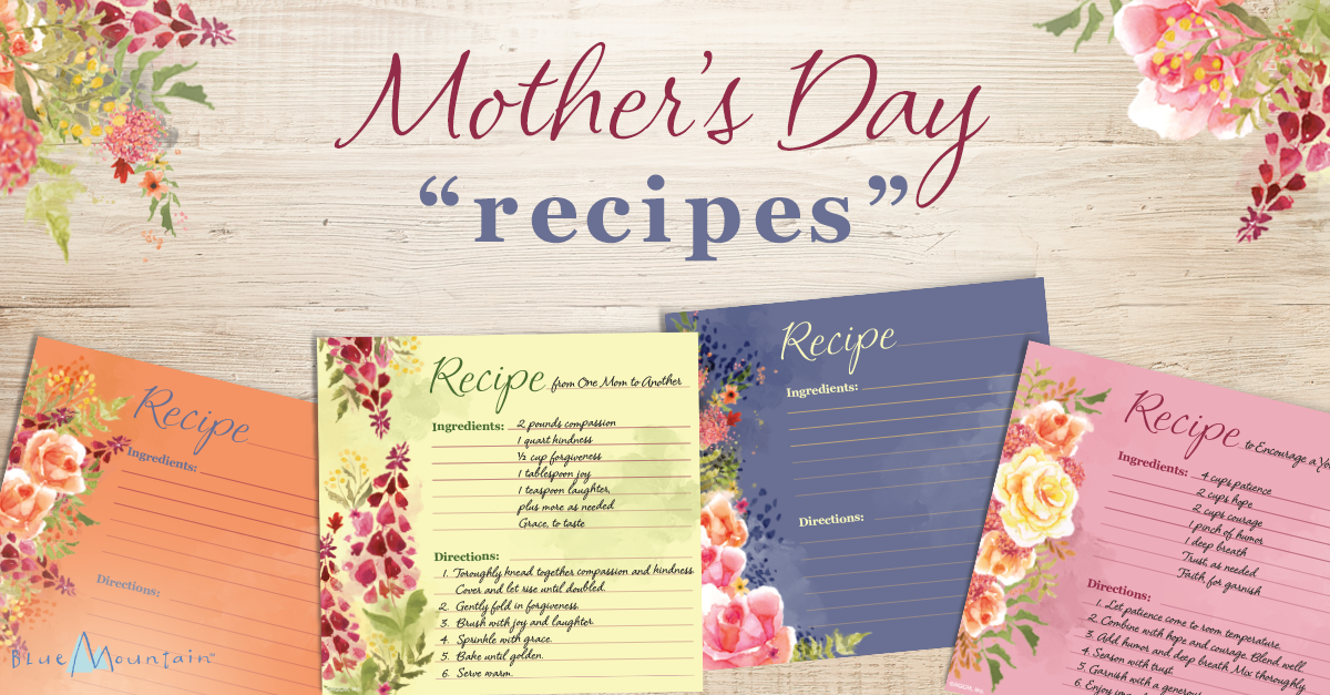 photograph relating to Printable Mothers Day Poems named Printable Moms Working day Recipe Poems - Blue Mountain Site