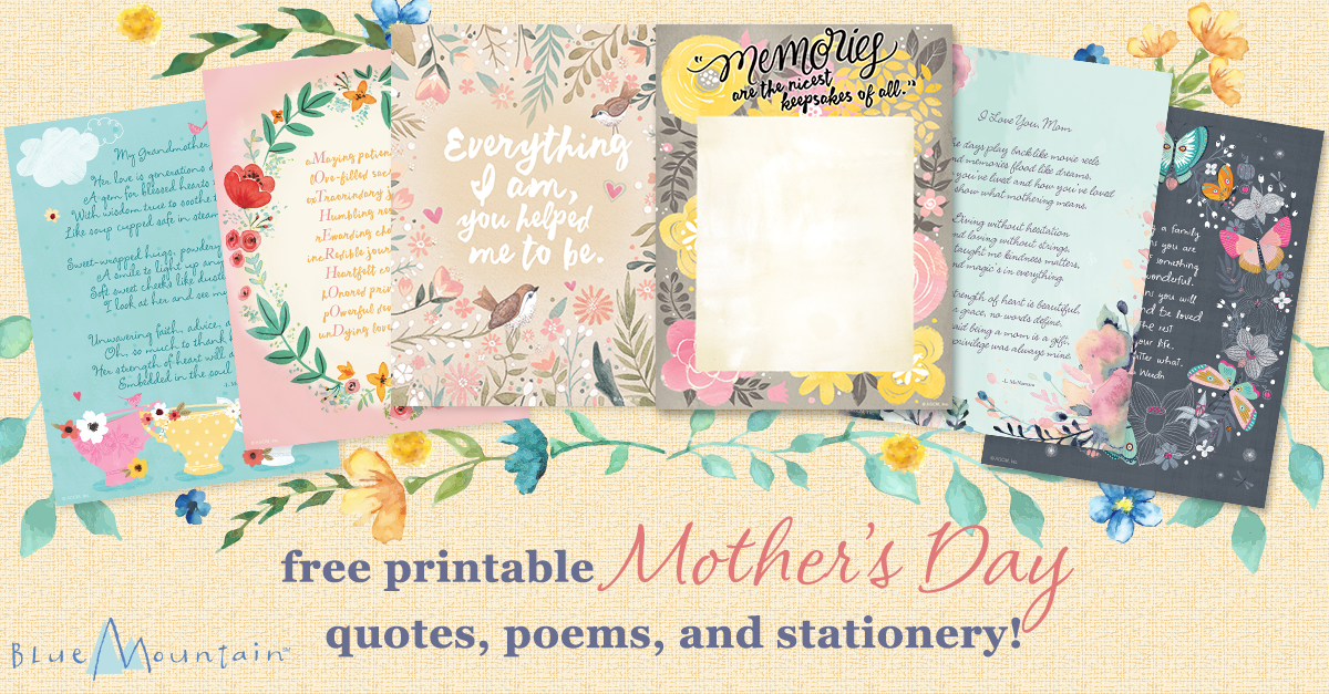 image regarding Printable Mothers Day Quotes called Moms Working day Printables - Blue Mountain Web site