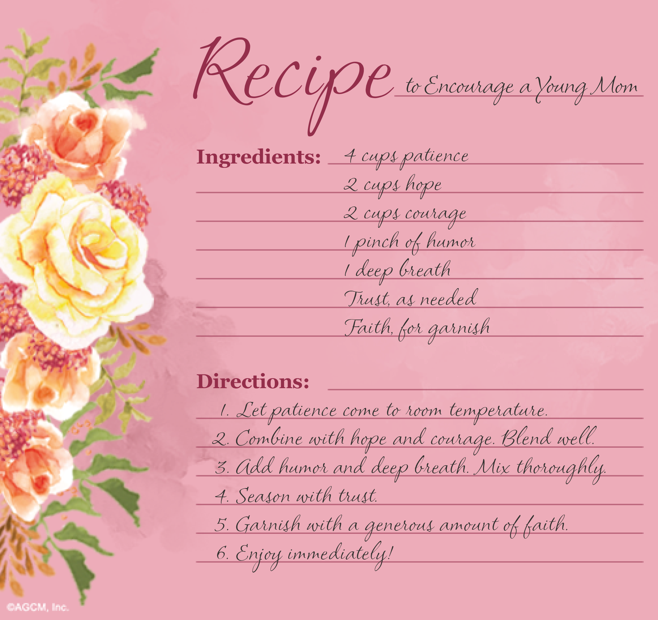 graphic regarding Printable Mothers Day Poems named Printable Moms Working day Recipe Poems - Blue Mountain Website